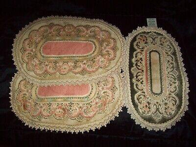 Vintage Belgian oval Doilies VERONA