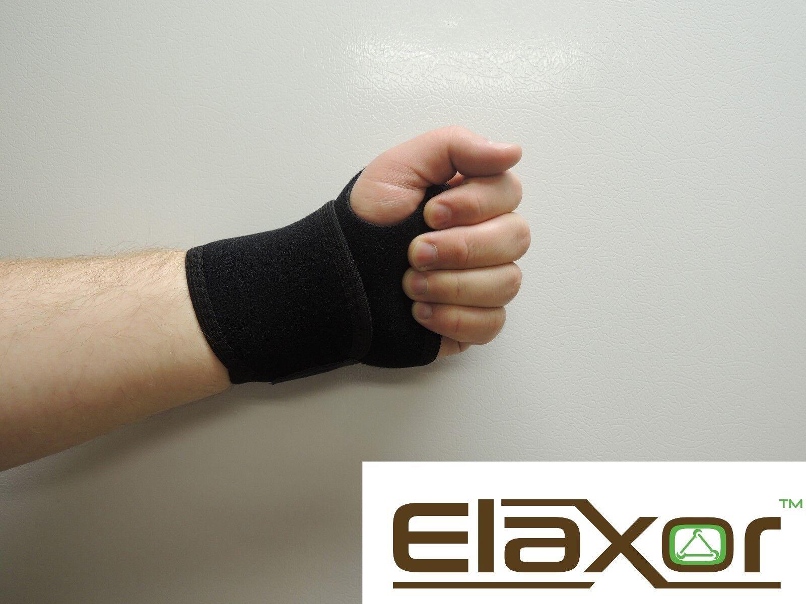 Wrist Brace Support Carpal Tunnel Splint Black Elastic Hand