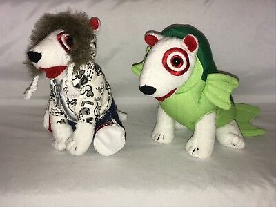Target Dog Bullseye Plush Fish Costume 2012 and Love Peace Hoodie 2011 Lot of 2