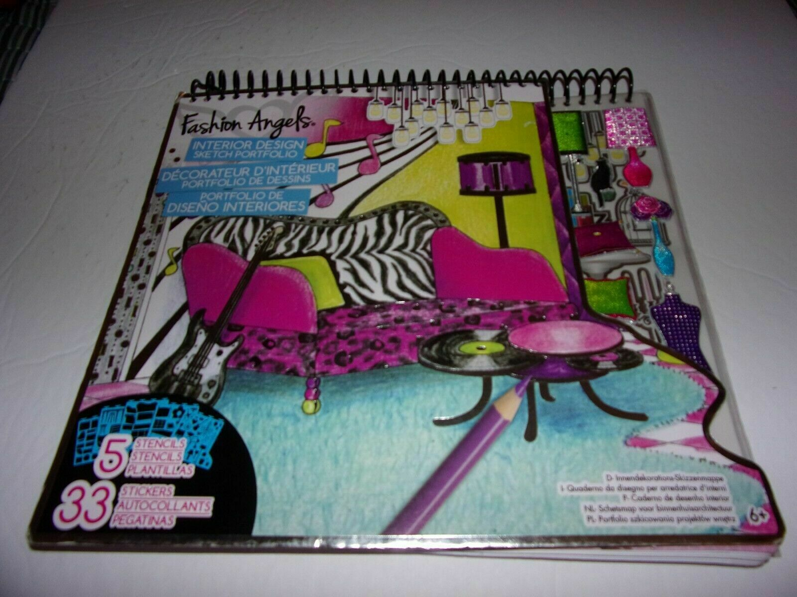 Arts Crafts Assorted 11510 Fashion Angels Interior Design Sketch Portfolio Craft Kits Arts Crafts Craft Kits