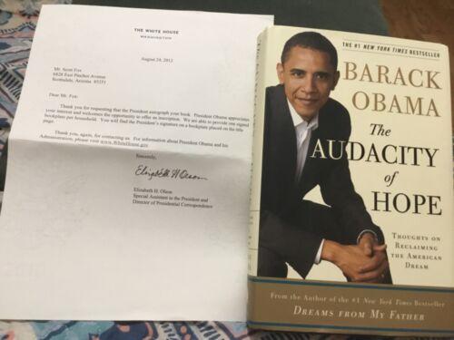 PRESIDENT BARACK OBAMA SIGNED BOOKPLATE FIRST EDITION AUDACITY OF HOPE w/COA