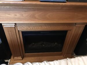 Fireplace stand.