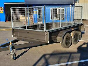 10X6 CAGED  2000 KILO TANDEM BOX TRAILER AUSTRALIAN MADE $3990 Morphett Vale Morphett Vale Area Preview