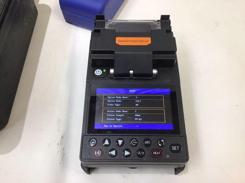 FiberLink 2.01 Optical Fusion Splicer Machine W/ Cleaver & Case