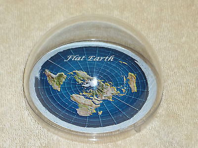 Flat Earth map dome display model - plastic base & dome