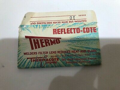 Vintage Thermo Reflecto-cote Welders Filter Lens Usedcrackedshade 10