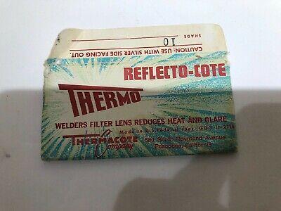 Vintage Thermo Reflecto-cote Welders Filter Lens Usedcrackedshade 10