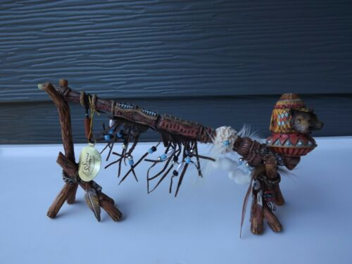 Peacemakers Collection Native Pieces The Path of the Wolf Piece Pipe Sculpture