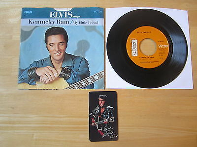 Elvis 45rpm record & Sleeve, Kentucky Rain/My Little Friend 1970 Pocket Calendar
