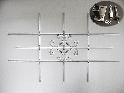 Fenstergitter Sicherheitsgitter Gitter feuerverz.1140x700mm inkl. Befestigung