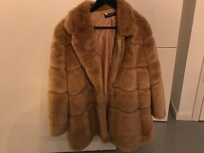 Faux Twin-set (Fake Faux Fur Jacke honig Twin-Set Simona Barbieri Gr. 42 (I) 36 S wie neu 1 x)