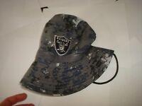 62b3dc6510f16 New with tags LOS ANGELES RAIDERS CAMO SGA FISHING hat cap BUCKET FLOPPY  BEACH SZ 7 TO 7 3 8 + Free shipping