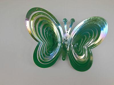 iel grün/mehrfarbig schimmernd Windspirale Garten Balkon (Schmetterling Windspiel)