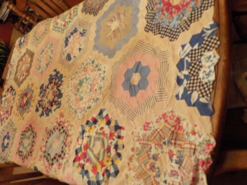 VINTAGE HAND SEWN  COVERLET ITEM NO. CPA3