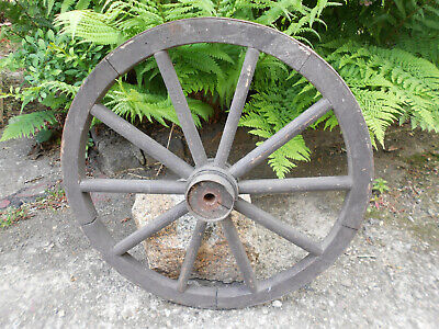 Old Cartwheel Spoked Wheel Ø 50 CM Country House Vintage Shabby! (19
