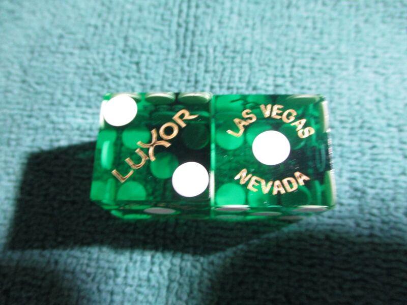 GREEN LUXOR LAS VEGAS CASINO DICE  MATCHING#