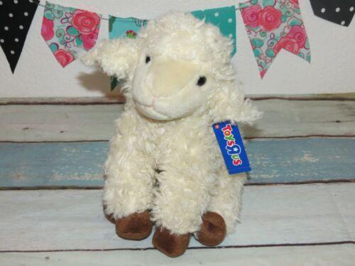 "NWT Toys R Us Lamb Sheep Beige Woolly Tan Plush Stuffed Animal Alley Toy 12"""
