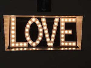 LOVE marquee letters for sale