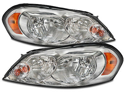 Headlamps Pair Set Fits 06 2013 Chevy Impala Halogen 06 07 Monte Carlo