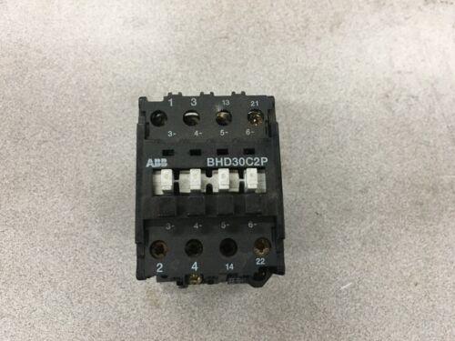 NEW NO BOX ABB CONTROL CONTACTOR BHD30C2P