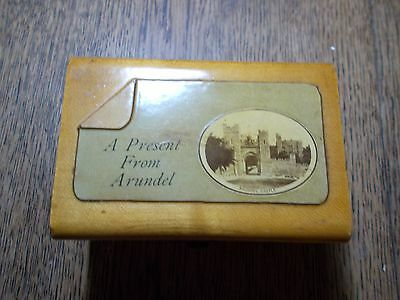 ANTIQUE  MAUCHLINE BOX A PRESENT FROM ARUNDEL