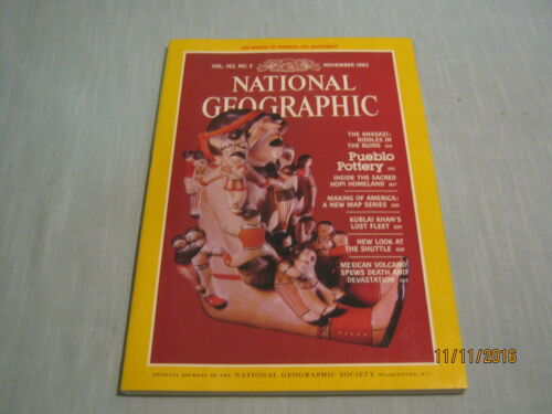 NATIONAL GEOGRAPHIC November 1982 PUEBLO POTTERY Anasazi Riddles SPACE SHUTTLE