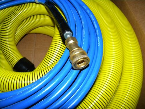 """Carpet Cleaning 50ft VACUUM & SOLUTION HOSES  1 1/2"""" wand cuff connect"""