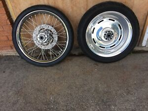 Harley Davidson Softail rims and tires