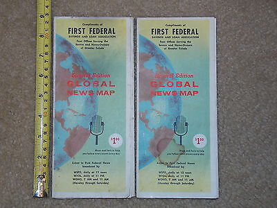 LOT OF 2 FIRST FEDERAL GLOBAL NEWS MAP WORLD SPECIAL EDITION