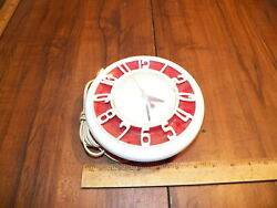 Vintage 1950s GENERAL ELECTRIC TELECHRON 2H45 Red & White Kitchen Electric Clock