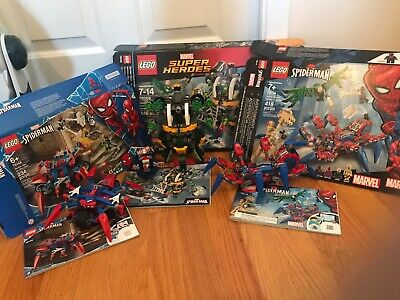 LEGO Marvel Super Heroes Bundle - SpiderMan (76148, 76059, 76114) NO MINIFIGURES