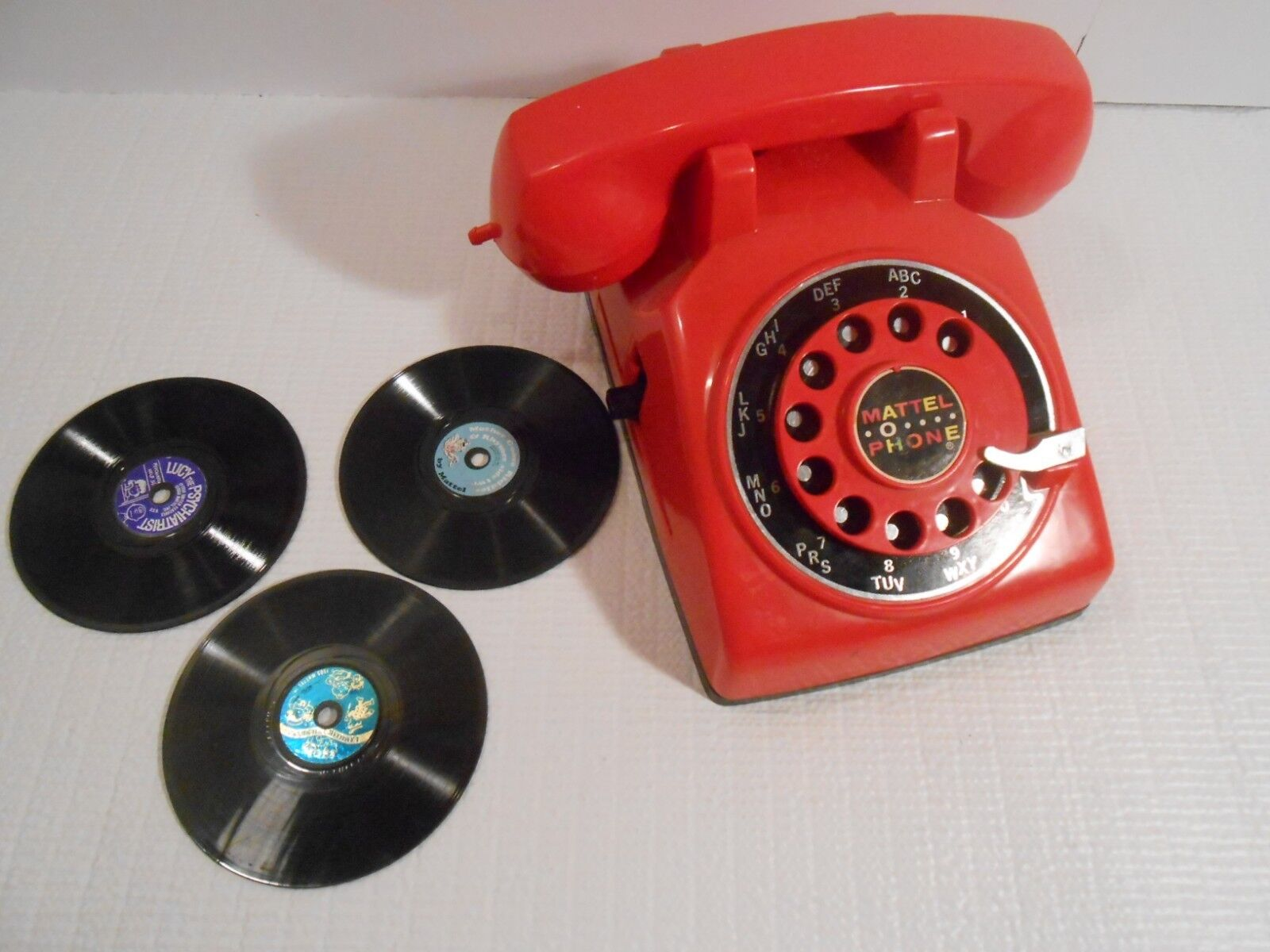 Vintage Mattel O Phone with 3 Records