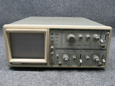 Goldstar Os-9020a Analog 20 Mhz Oscilloscope 2-channel Tested Working