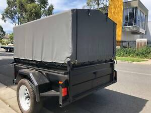 6x4 Box Trailer with Cage & Canvas Cover Cardiff Lake Macquarie Area Preview