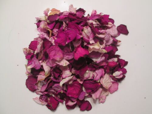 Natural Sun Dried Mixed PINK Rose Petals - 6 Cups BEAUTIFUL!