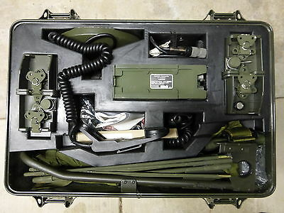 AN/PRC-104B(V)1 MILITARY PORTABLE RADIO SET  IN CHEST WITH ALL ACCESSORIES