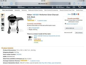 Weber Charcoal Grill BBQ