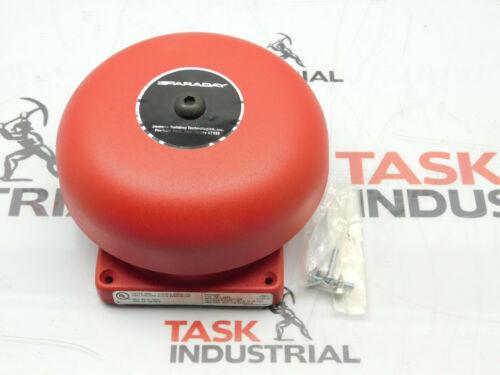 "new red Faraday fire alarm bell No. 4466B61424DC VIB POL W/6"" Gong 21-30VDC"