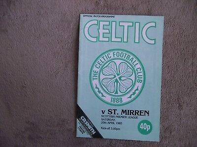 1984-85 (Apr) Celtic v St. Mirren  -  Scottish Premier League