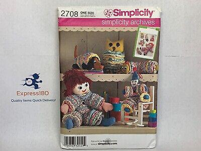 (CO) Uncut Simplicity Archives Yo Yo Toys Pattern 2708 Clown Doll Owl Dog ++](Yo Dog)