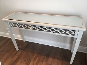 Beautiful grey and mirrored console table