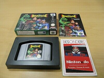 N64 Nintendo 64 Spiel - RAMPAGE WORLD TOUR - OVP - PAL - TOP
