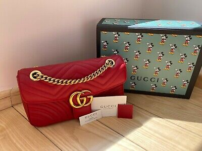 Gucci GG Marmont Matelasse - Small Size Bag - Red Leather