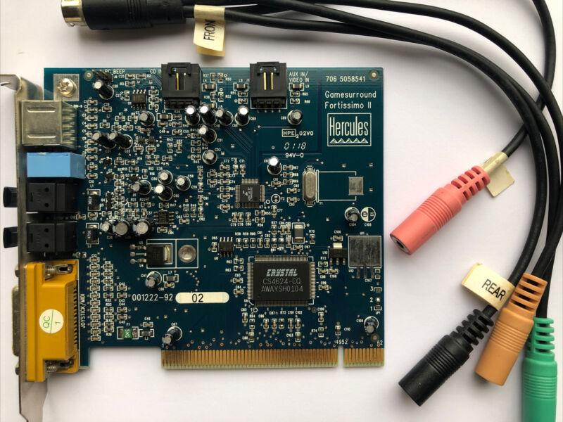 Hercules 5058541 Gamesurround Fortissimo II Digital PCI Audio Sound-Card
