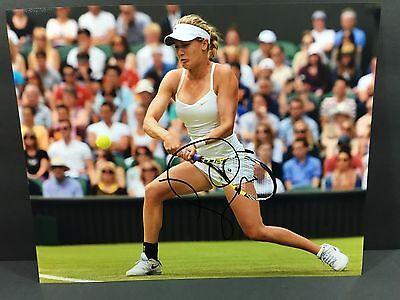 Eugenie Bouchard Signed Auto 8X10 Photo Tennis Wimbledon French Open Us Coa