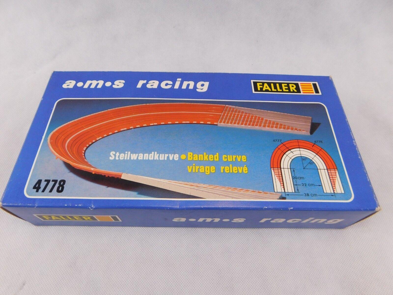 FALLER Steilwandkurve Steilkurve 4778 ams Auto Motor Sport Racing H0 1:87 OVP.