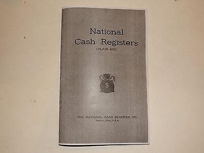 """ANTIQUE NATIONAL BRASS CASH REGISTER """"400 CLASS BOOK"""" SHOWS"""