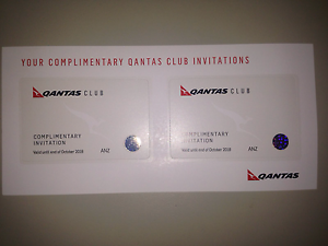 2 X QANTAS CLUB LOUNGE PASSES LONG EXPIRY OCTOBER 2018 $140 Sydney City Inner Sydney Preview