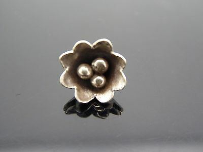 Sterling Silver Hill Tribe Flower 8mm Tibetan Small Pendant Charm - Hill Tribe Flower