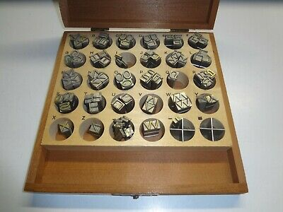 Kingsley Hot Foil Stamping Machine Type 79 Piece Set 24 Pt. Gothic Caps